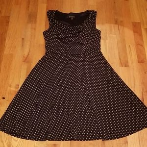 Dresses & Skirts - Vtg inspired navy polka dot dress